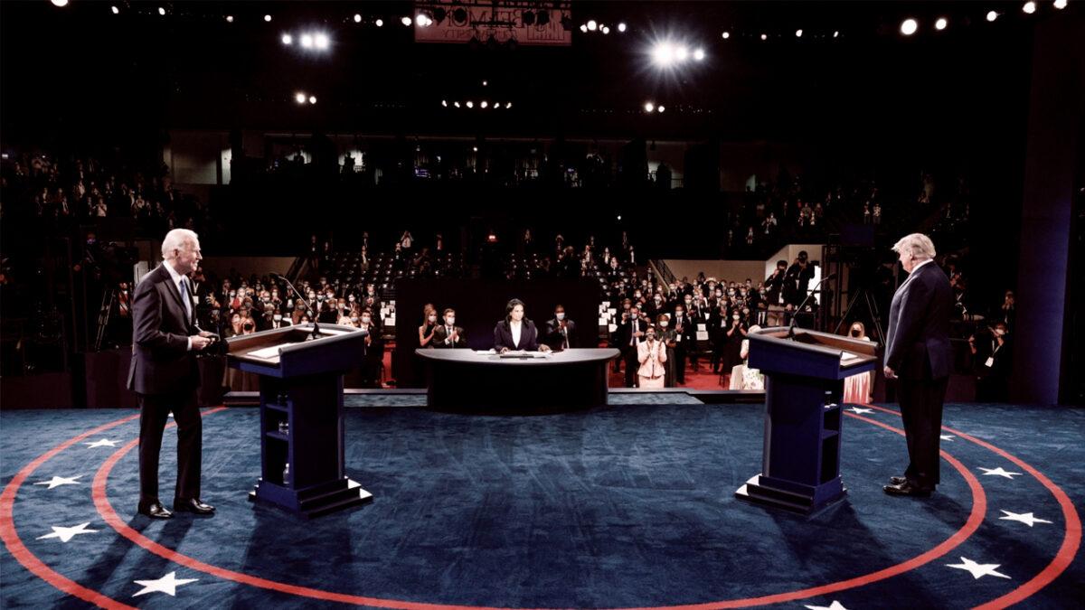 último debate presidencial. eeuu, Trump, Biden, conversación digital, stakeholders, metrics, metricser