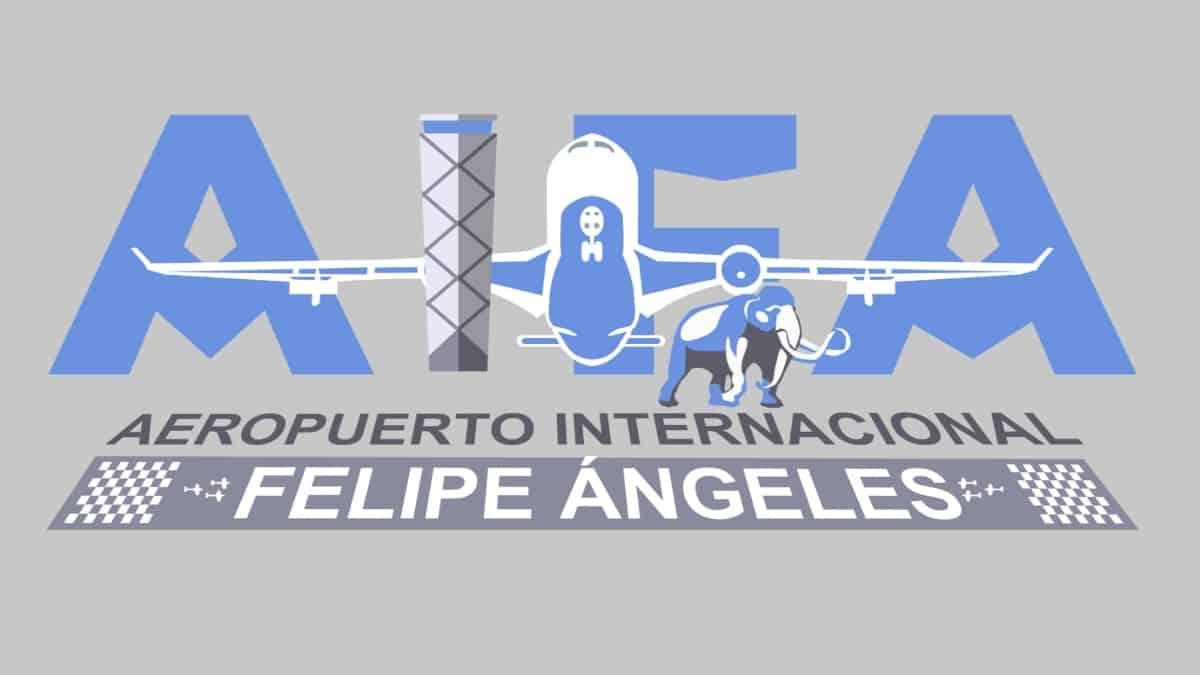 Usuarios critican logo del aeropuerto internacional Felipe Ángeles